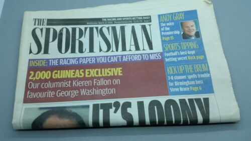 Very Rare The Sportsman Issue 1 dated 22032006 Racing Post rival newspaper