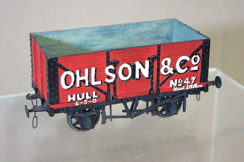 SLATERS O GAUGE KIT BUILT OHLSON & CO HULL 7 PLANK COAL WAGON 47 NICE mw
