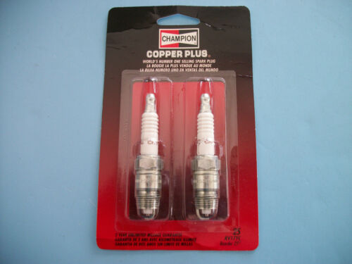 2 PACK Champion RV17YC Copper Plus Spark Plug # 25