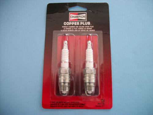 2 PACK Champion RV17YC Copper Plus Spark Plug # 25
