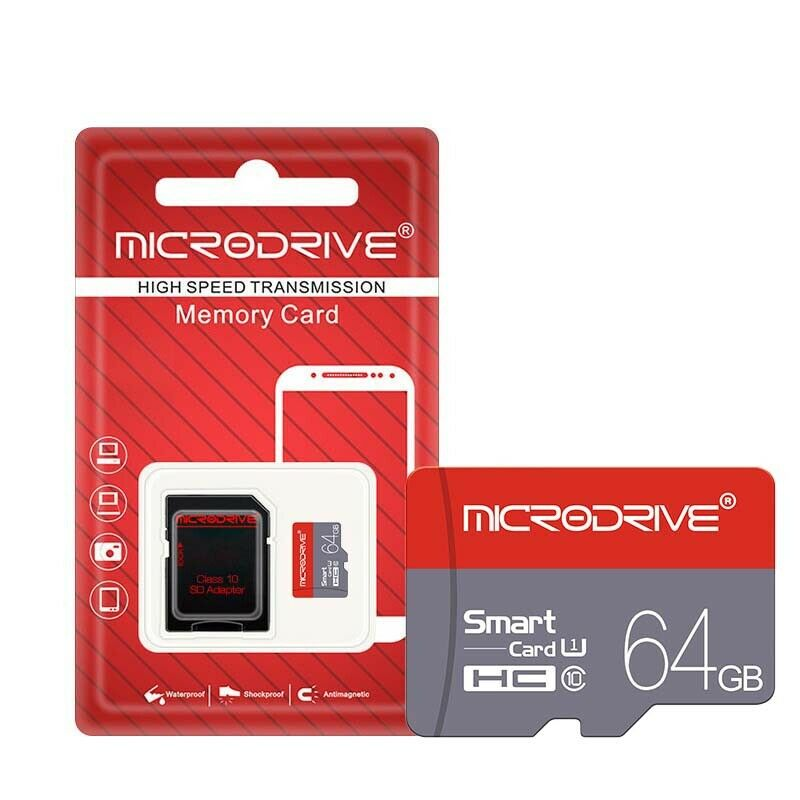 32GB Micro Memory Card Class 10 U1 HD High Speed With SD TF Card Adapter