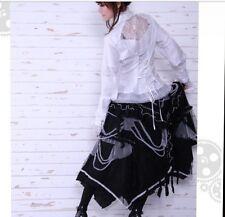 rq-bl long gothic net skirt