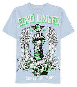 NWT-MENS-ECKO-UNLTD-034-Rhino-SS-TEE-034-GRAPHIC-T-SHIRT-Baby-Blue-Size-MEDIUM
