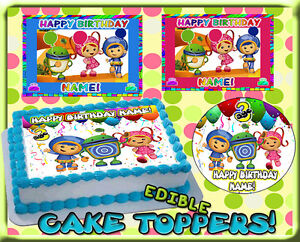 Image Is Loading Team Umizoomi Birthday Cake Topper Edible Picture