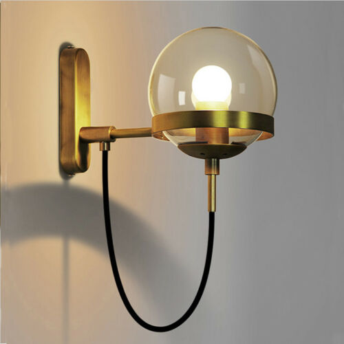 UK Crystal Glass Ball Industrial Ceiling lamp Wall light Cafe Bar Decorate Xmas