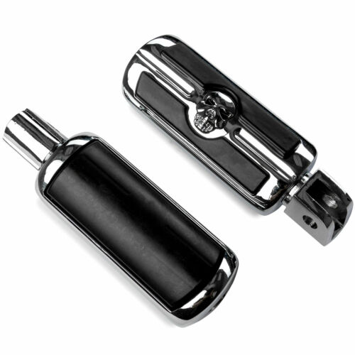 Front Only 2x Chrome Skull Foot Pegs L/&R For Honda CBR 954RR 2002-2003