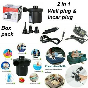 Electric Air Pump Inflator For Inflatables Camping Bed Pool Toys 240V UK Plug