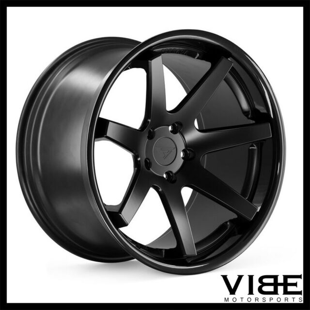 20 Ferrada Fr1 Black Concave Wheels Rims Fits Tesla Model S