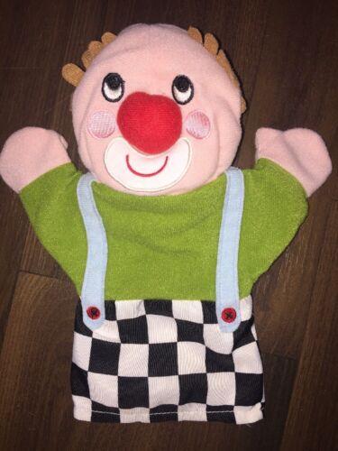 IKEA Kuscheltier Stofftier Plüsch Handpuppe Clown Circus Klappar Bunt Hose Grün