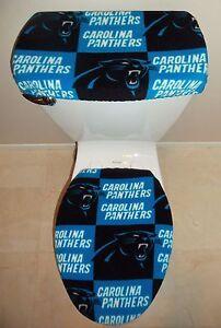 Charmant Image Is Loading NFL CAROLINA PANTHERS Toilet Seat Cover Set Bathroom