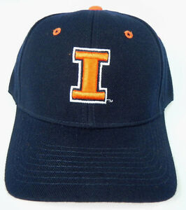 ILLINOIS-FIGHTING-ILLINI-NAVY-NCAA-VINTAGE-FITTED-SIZED-ZEPHYR-DH-CAP-HAT-NWT