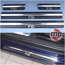 Volkswagen Golf Mk5 FSi Silver Steel Kick Plate Car Door Sill Protectors - K44X