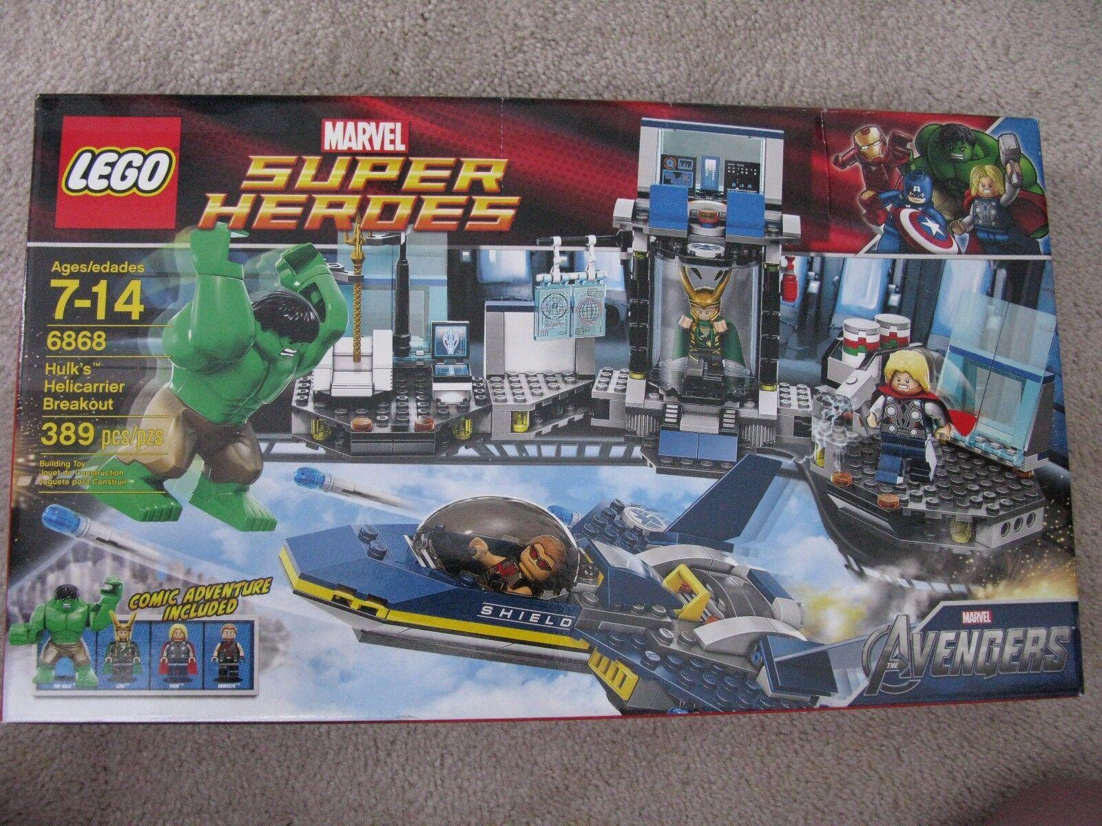 fino al 42% di sconto LEGO 6868MARVEL SUPER SUPER SUPER HEROESHULK'S HELIautoRIER BREAKOUTnuovo IN scatola  presa di fabbrica
