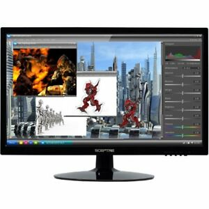 Computer-Monitor-Kids-Gaming-Movies-22-Inch-LED-1080p-Full-HD-Black-Sceptre-New