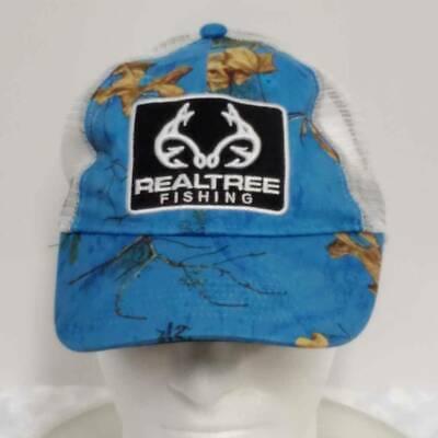 Adjustable Real Tree Realtree Ladies Cap Baseball Hat Camo Turquoise Teal Blue