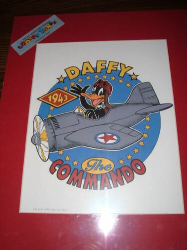 NEW LOONEY TUNES DAFFY DUCK THE COMMANDO LITHOGRAPHIC PRINT by warner bros.