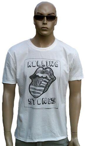 Amplified rolling stones usa stars /& réparti langue DESSIN DESIGN t-shirt L//xl
