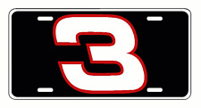 DALE EARNHARDT #3 License Plate decal racing nascar P01