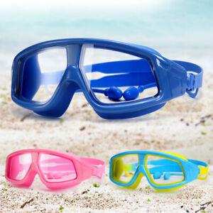 Adjustable-Kids-Wide-Swimming-Goggles-Clear-Anti-Fog-Pool-Swim-Glasses-W-Earplug