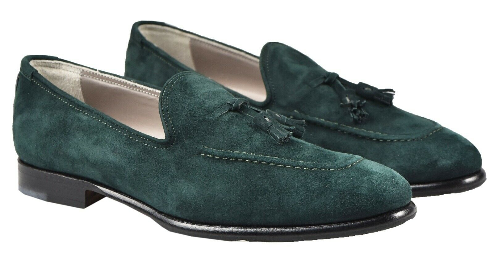 NEW KITON DRESS scarpe 100% LEATHER SZ 10 US 43 EU 19O109