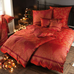 bassetti mako satin bettw sche sharma v1 rot paisley 155x220 cm ebay. Black Bedroom Furniture Sets. Home Design Ideas