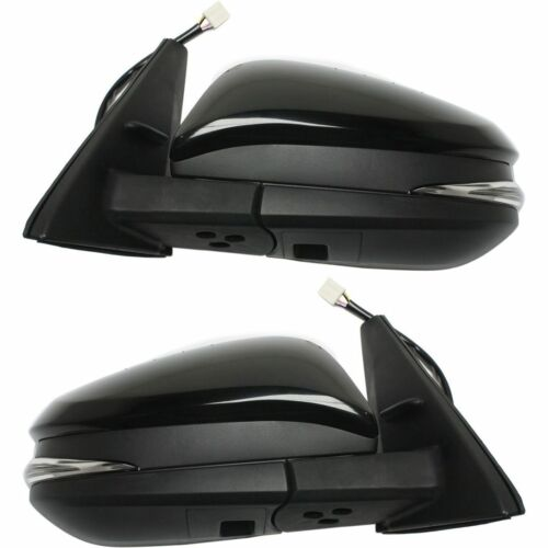 New Set of 2 LH & RH Side Powered Mirrors For Toyota 4Runner 2014-2016