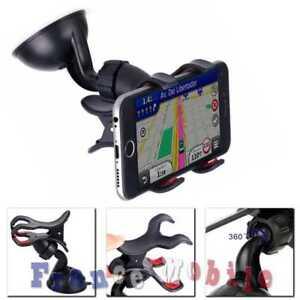 Support-de-Voiture-avec-Ventouse-Fixation-double-pince-pour-Smartphone-portable