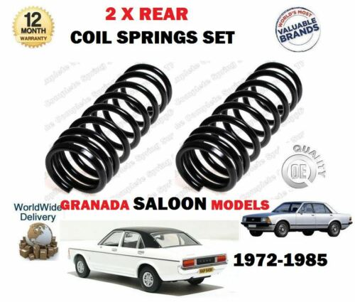 FOR FORD GRANADA SALOON MODELS MK1 MK2 1972-1985 NEW 2 X REAR COIL SPRINGS SET