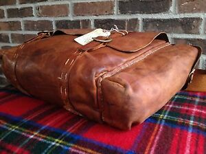 VTG-1970-s-BRITISH-TAN-DISTRESSED-BASEBALL-GLOVE-LEATHER-GYM-DUFFLE-BAG-R-1195