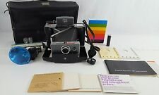 Early 1960's POLAROID Automatic 100 Land Camera w/ Case, Flash, Timer