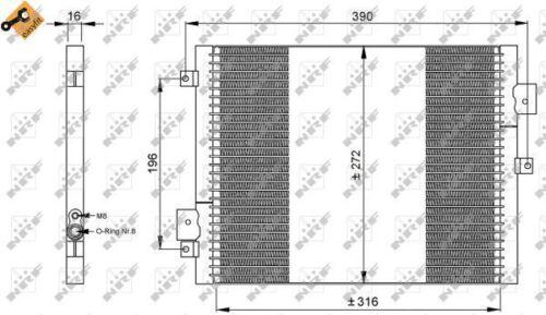 Condensador Aire Con Acondicionamiento de CA de 35795 NRF 99657311102 99657311103 99757391102