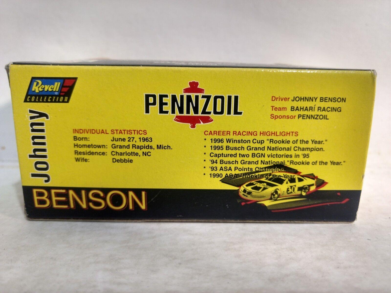 Revell Johnny Benson Pennzoil 1996 Gran Premio Premio Premio 1 64 Escala de Metal Mb1071 9c57ef
