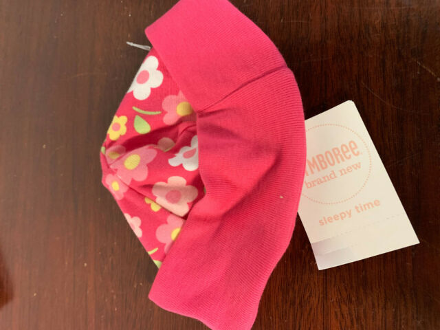 GYMBOREE BRAND NEW BABY PINK w// FLOWER /& BIRD BEANIE HAT Preemies 0 3 6 12 NWT