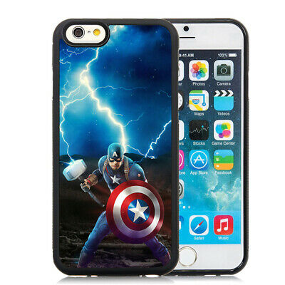 Captain America With Thor Hammer Case Cover for iPhone 6 7 8 Plus 11 12 XR XS SE   eBay