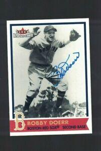 Bobby Doerr Boston Red Sox Signed 2001 Fleer Baseball Card W/Our COA
