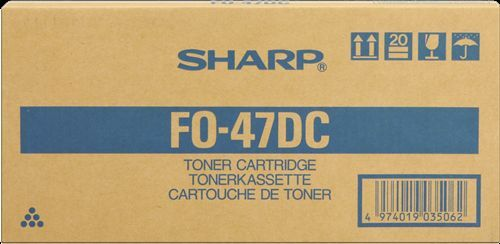 ($0 p&h) GENUINE SHARP FO-47DC Black FAX TONER CARTRIDGE FO4700 FO47DC