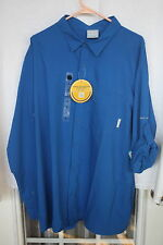 NWT Columbia insect blocker shirt NWT NEW size XL, solid blue $70 retail