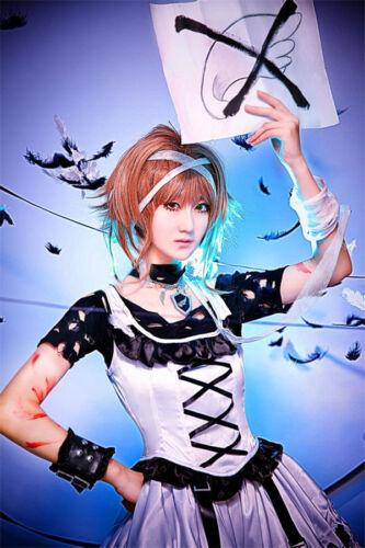 Tsubasa Reservoir Chronicles Sakura Hime Cosplay Costume White and Black Dress