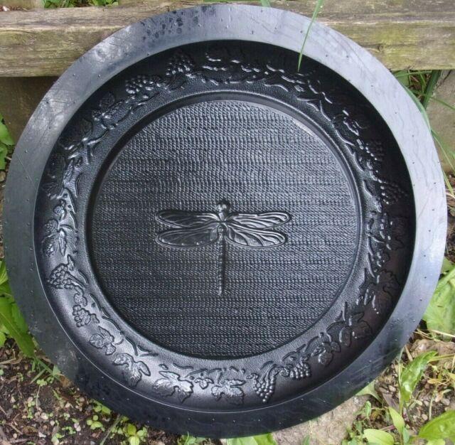 "Leaf birdbath mold midsize heavy duty abs plastic garden mould  16/"" x 3/"" H"