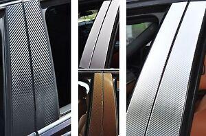 6x-Tuerleisten-Zier-leisten-SET-B-Saeule-Verkleidung-Struktur-Folie-Tuning-B01