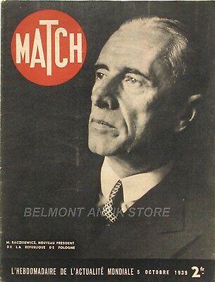 Verstandig Match N°66 - 1939 - Raczkiewicz - Tchèques Et Polonais - La Radio - M. Bastié Uitstekende (In) Kwaliteit