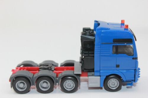 Herpa 304375-4 blau  MAN TGX XXL 640 Euro 6 Schwerlast Zugmaschine 1:87 NEU OVP