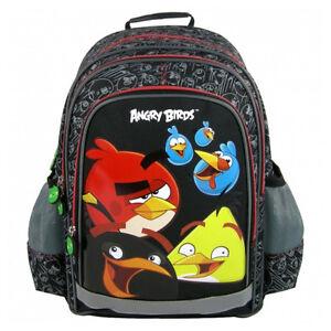bd87ca4f7e77 Angry Birds Backpack School Bag Gym Tourist Holiday Swim Boys Black ...