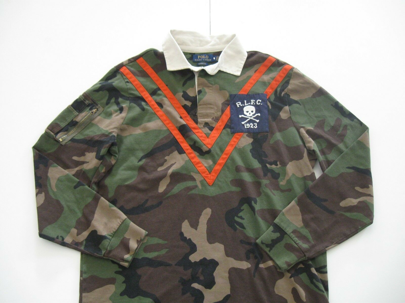 POLO RALPH LAUREN Men's Classic-Fit Long-Sleeved Camouflage Rugby Polo Shirt M