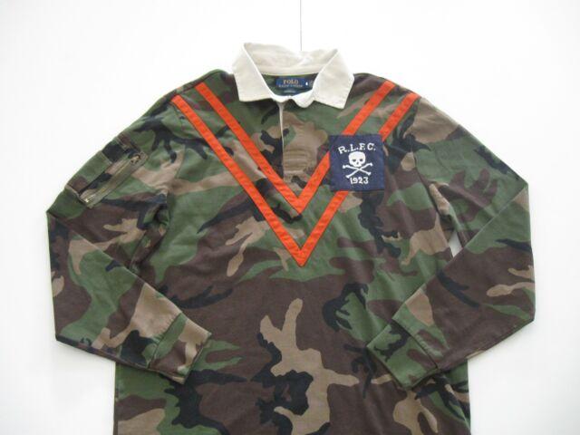 Polo Ralph Lauren Homme Coupe Classique Manche Longue Camouflage de Polo Rugby