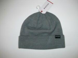 NIXON-Heather-Gray-NOSTRE-Cuffed-Knit-Beanie-HAT-Cap-Mens-One-Size-NEW