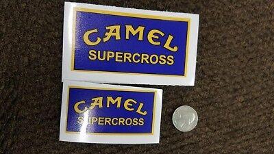 old school 2 Camel Supercross retro vintage AHRMA decal.