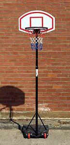 Basketball-Net-With-Adjustable-Stand-On-Wheels-Hoop-Backboard-Basket-ball-Kit