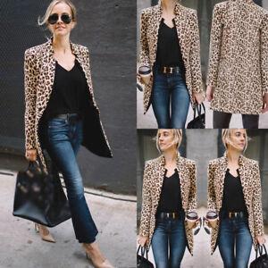 Fashion-Women-Mid-length-Slim-Casual-Blazer-Suit-Lady-Work-Jacket-Coat-Outerwear