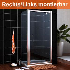 Duschabtrennung-Duschkabine-90x90cm-Drehtuer-Schwingtuer-Duschtrennwand-Eckdusche
